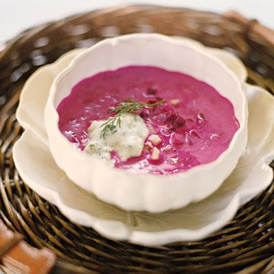 Summer Borscht with Tzatziki