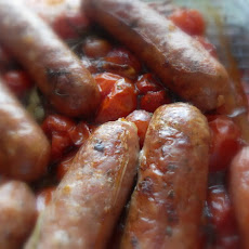 Cherry Tomato and Sausage Bake