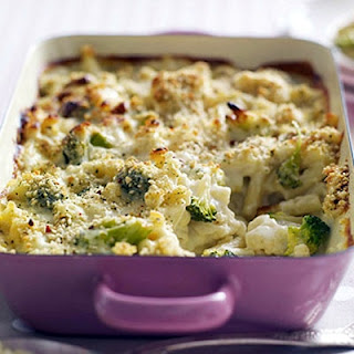 Macaroni Cheese With Cauliflower And Broccoli