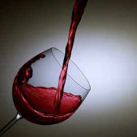 Pouring of the wine by Nick Venton - Food & Drink Alcohol & Drinks ( wine, liquid, fluid, pour, glass )
