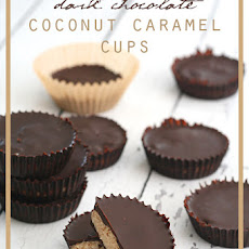 Dark Chocolate Coconut Caramel Cups