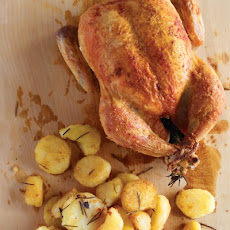 Crisp-Skinned Chicken with Rosemary Potatoes