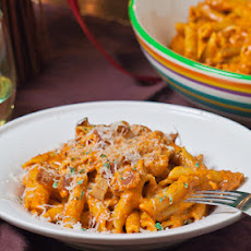 Roasted Red Pepper and Pecan Pesto Penne