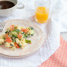 Smoked Salmon and Veggie Scramble