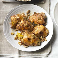Roasted Chicken With Creamy Walnut Sauce