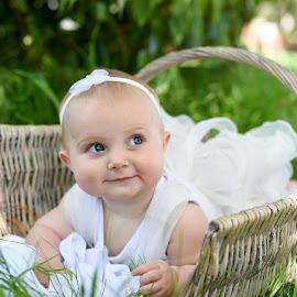 Miss Charis by Karina Cove - Babies & Children Babies ( princess, basket, dressing up, baby, cute )
