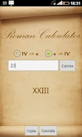 Screenshot of Roman Calculator (Converter)