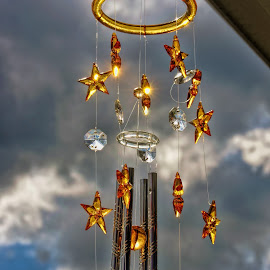 Singing In The Wind by Luanne Bullard Everden - Artistic Objects Other Objects ( clouds, musical, stars, windchimes, tubes, skies )