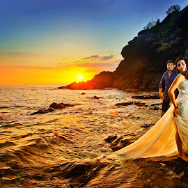Thrash the Dress Pictorials by Anderson Bayani - Wedding Bride & Groom ( wedding photos destination, wedding photography, wedding, weddings at sea, thrash the dress pictorials )