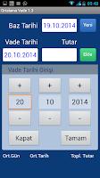 Screenshot of Ortalama Vade