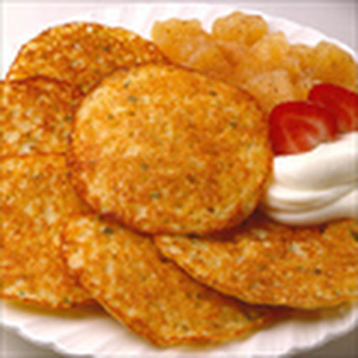 ... rosti style potato latkes with rosemary and brown butter applesauce