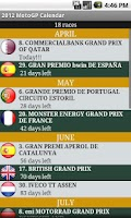 Screenshot of 2014 MotoGP Calendar