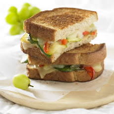 Roasted Vegetable and Grilled Gruyere Sandwich