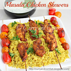 Masala Chicken Skewers
