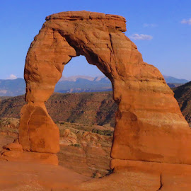 Arch by Holly Dolezalik - Landscapes Travel ( sand, blue sky, red, arches national park, arch, utah )