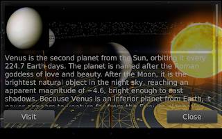 Screenshot of Orrery