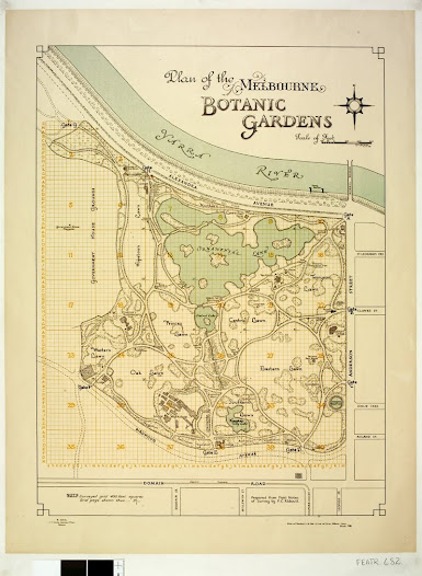 Plan of the Melbourne Botanic Gardens. This plan from 1948, shows the influence of William Guilfoyle, who succeeded Mueller as Director.