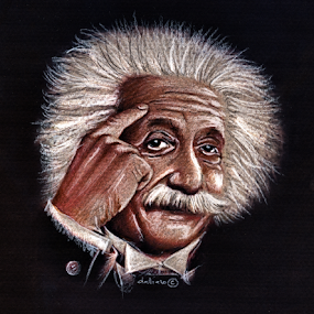 Albert Einstein - Drawing by Daliana Pacuraru - Drawing All Drawing ( celebrity, daliana pacuraru, albert einstein, crayons, portrait, drawing,  )