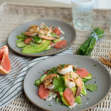 Grapefruit, Fennel & Grilled Shrimp Salad