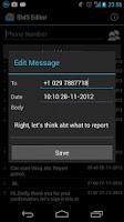 Screenshot of SMS Edit