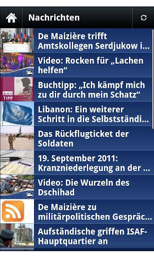 bundeswehr for android screenshot