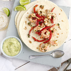 Prawn Fajitas With Avocado Cream