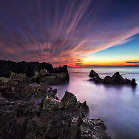 The Rock by Nyoman Sundra - Landscapes Sunsets & Sunrises ( japan, sunset, kanagawa, rock, landscape )