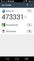 Screenshot of Duo Mobile