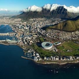 Cape Town, South Africa by Johan Dempers - City,  Street & Park  Skylines ( aerial photo, table mountain, 7 wonders of the world, south africa, lugfoto, cape town, green city )