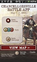 Screenshot of Chancellorsville Battle App