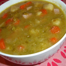 Smoky Split Pea and Root Vegetable Soup