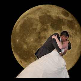 Take me to the moon by Connie Pyatt - Wedding Bride & Groom ( love, moon, super moon, wedding, bride, groom )