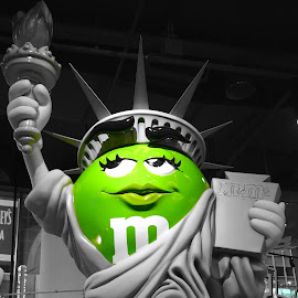 M and M by Robert Kiss - Digital Art Places ( statue, green, art, new york, city )