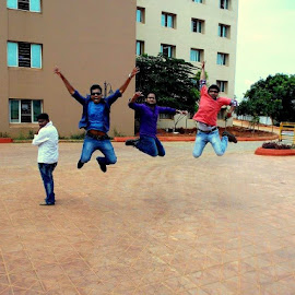 by Pranavesh NeverSerious - Novices Only Portraits & People ( friends, happy, joy, people, jump,  )