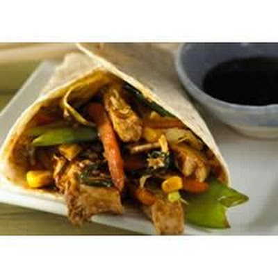 Easy Moo Shu Vegetable Wraps