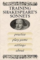 Screenshot of Shakespeare Sonnet Trainer