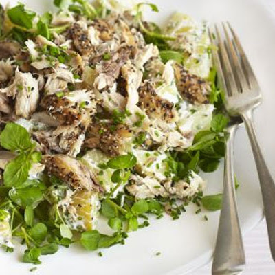 Peppered Mackerel, New Potato & Watercress Salad