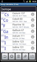 Screenshot of Radioactive Decay Calc (Free)