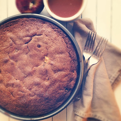 Apple Cider Cake with Spiced Cider Butterscotch Sauce