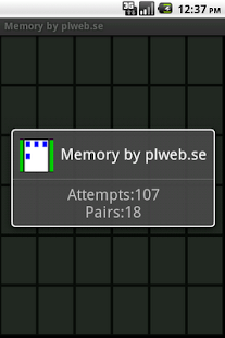Memory by plweb.se - screenshot