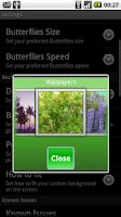 Screenshot of Butterfly Live Wallpaper