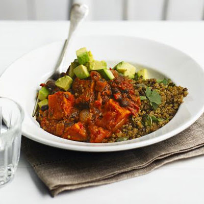 Sweet Potato & Black Bean Chilli With Zesty Quinoa