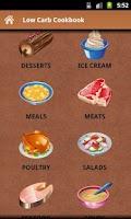 Screenshot of Low Carb Cookbook