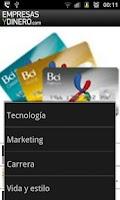 Screenshot of Empresas y dinero