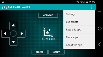 Screenshot of Arduino BT Joystick Free