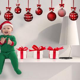 Elf on the Shelf by Melanie Ayers Wells-Photography - Digital Art People ( child, christmas, shelf, boy )