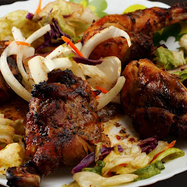 Tandoori Chicken by Sanjib Paul - Food & Drink Plated Food ( chicken, salad, diet, tandoori, food, roasted )