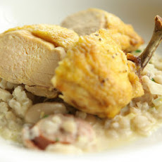 Chicken With Barley, Smoked Sausage And Wheat Beer