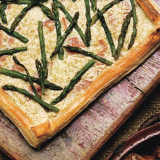 Asparagus-Ricotta Tart with Comte Cheese