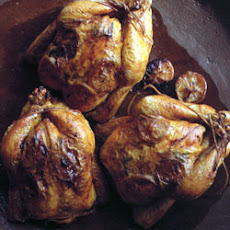 Roast Chicken with Saffron and Lemons